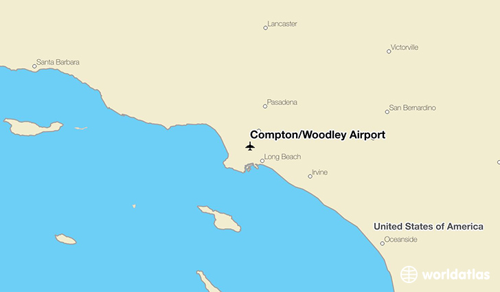 Compton/Woodley Airport location on a map