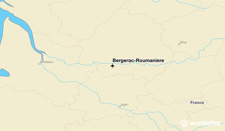 Bergerac-Roumanière location on a map