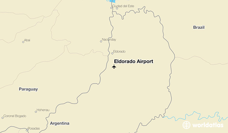 Eldorado Airport location on a map
