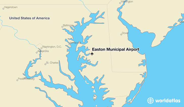 Easton Municipal Airport location on a map