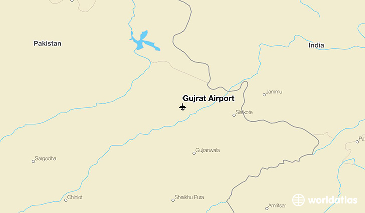 Gujrat Airport location on a map