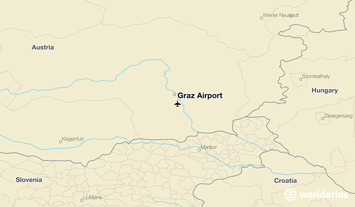 Graz Airport location on a map