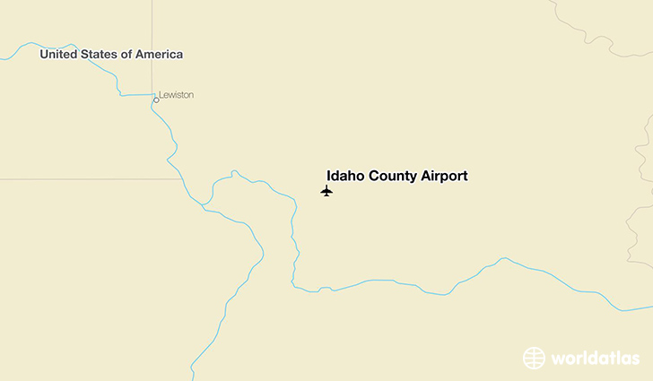 Idaho County Airport location on a map