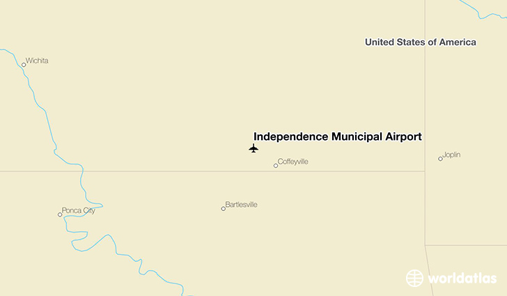 Independence Municipal Airport location on a map