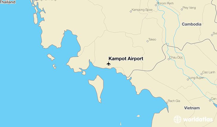Kampot Airport location on a map
