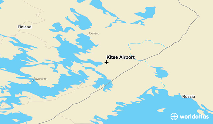 Kitee Airport location on a map