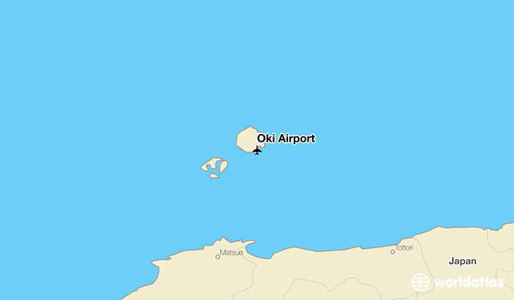 Oki Airport location on a map