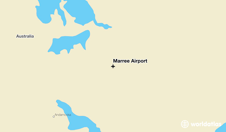 Marree Airport location on a map