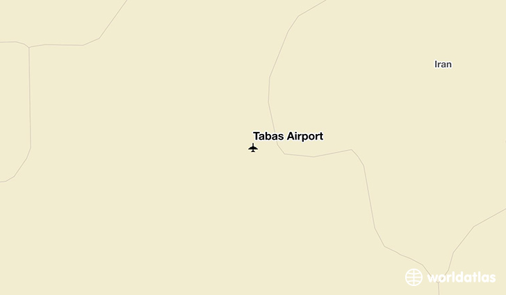 Tabas Airport location on a map