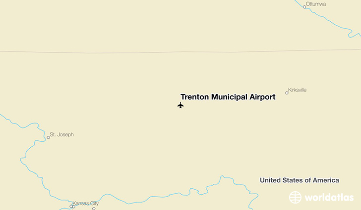 Trenton Municipal Airport location on a map