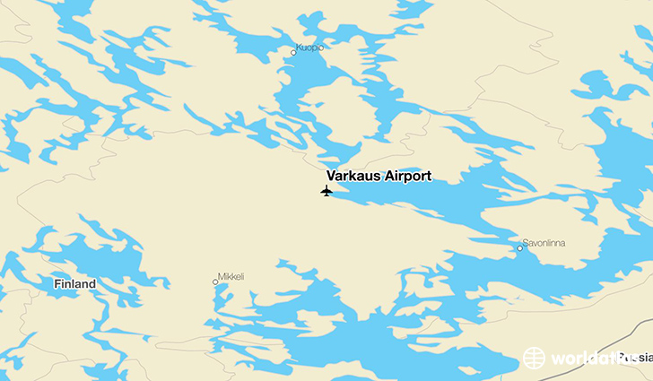 Varkaus Airport location on a map