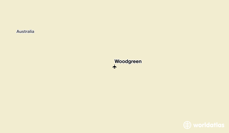 Woodgreen location on a map