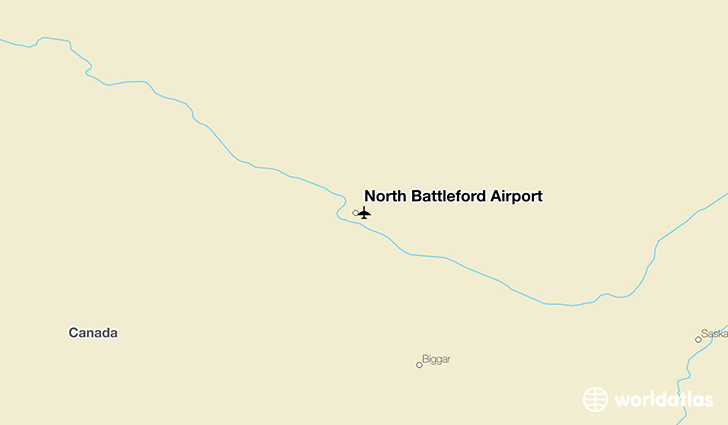 North Battleford Airport location on a map