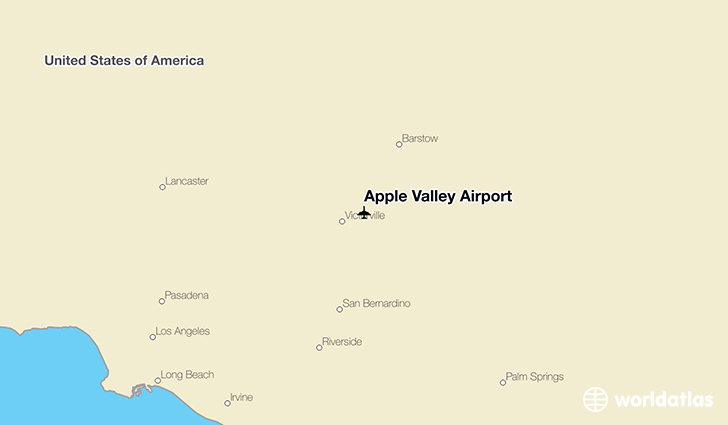 Apple Valley Airport location on a map