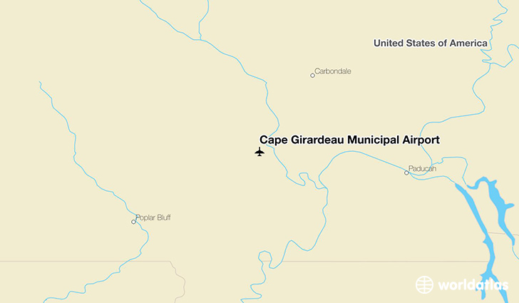 Cape Girardeau Municipal Airport location on a map