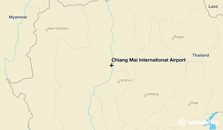 Chiang Mai International Airport location on a map