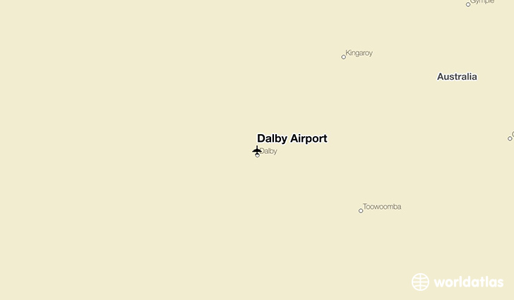 Dalby Airport location on a map