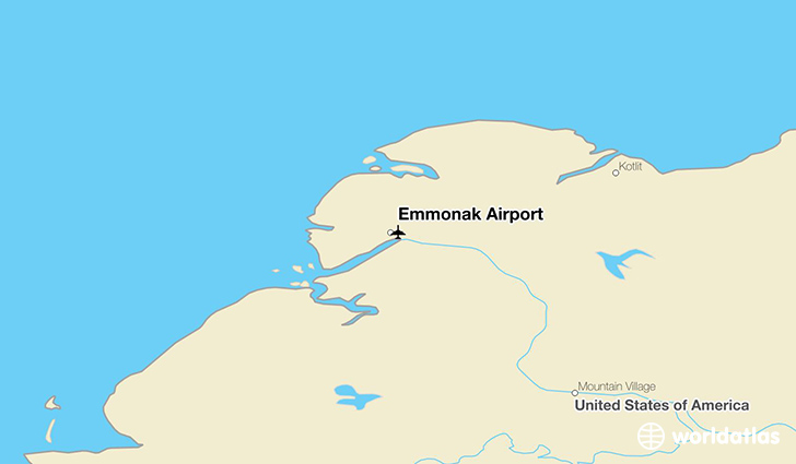Emmonak Airport location on a map