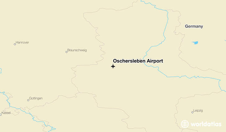 Oschersleben Airport location on a map