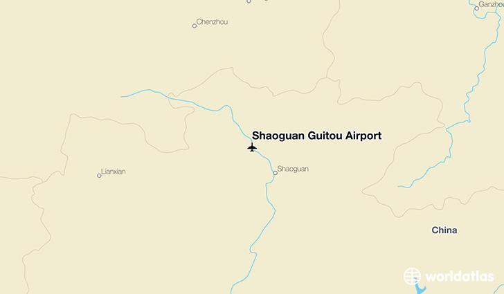 Shaoguan Guitou Airport location on a map