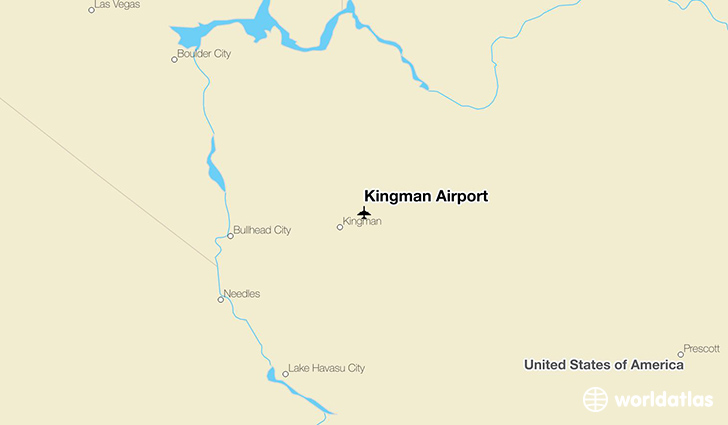 Kingman Airport location on a map