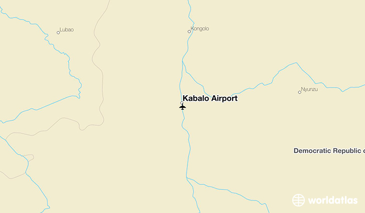 Kabalo Airport location on a map