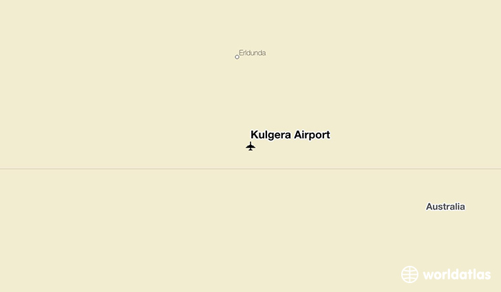 Kulgera Airport location on a map