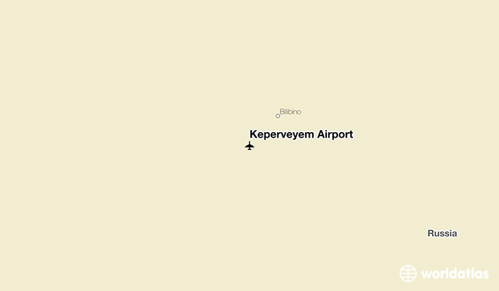 Keperveyem Airport location on a map