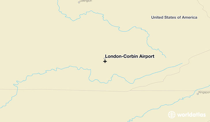 London-Corbin Airport location on a map