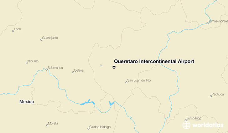 Querétaro Intercontinental Airport location on a map