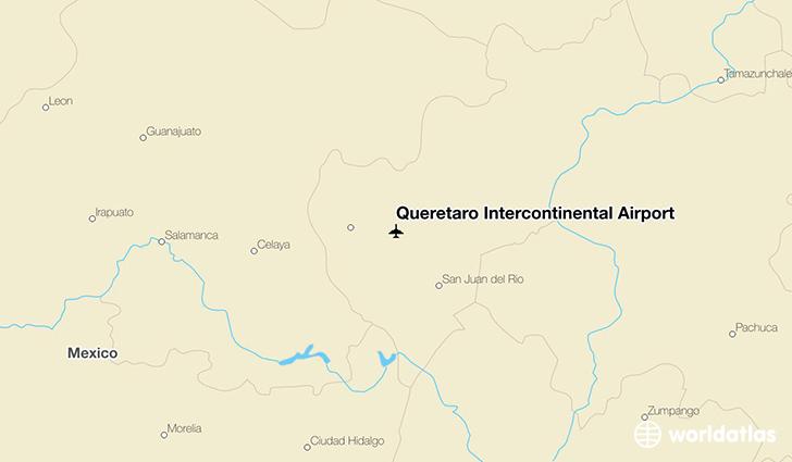 Queretaro Airport Map Querétaro Intercontinental Airport (QRO)   WorldAtlas