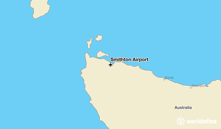 Smithton Airport location on a map