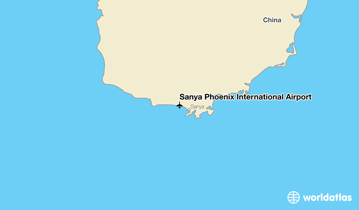 Sanya Phoenix International Airport location on a map