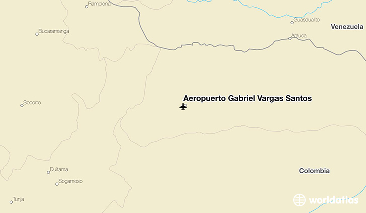 Aeropuerto Gabriel Vargas Santos location on a map