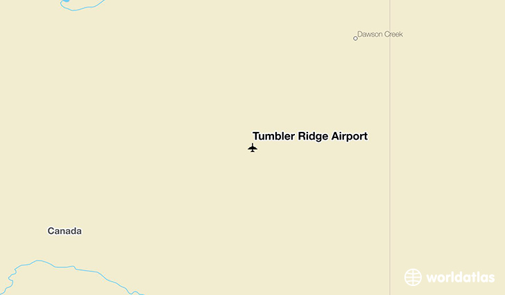 Tumbler Ridge Airport location on a map