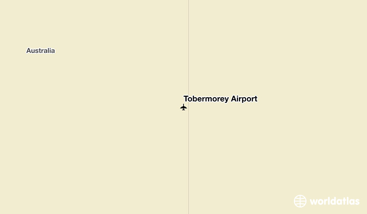 Tobermorey Airport location on a map