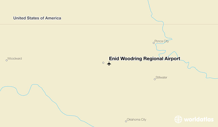Enid Woodring Regional Airport location on a map