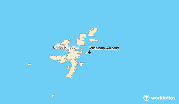 Whalsay Airport location on a map