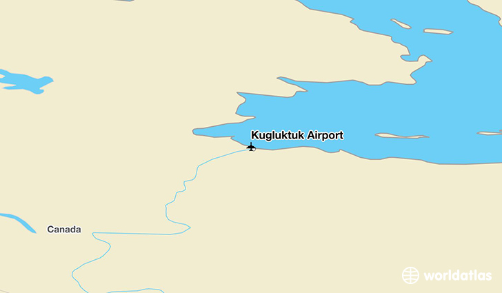 Kugluktuk Airport location on a map