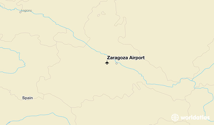 Zaragoza Airport location on a map