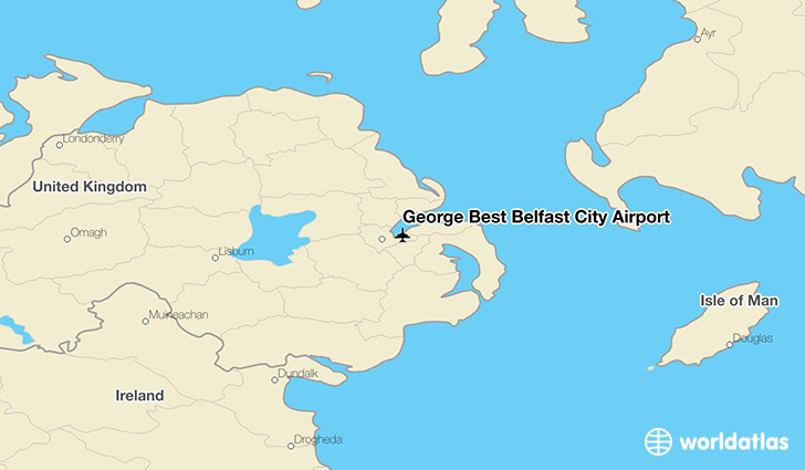 George Best Belfast City Airport location on a map