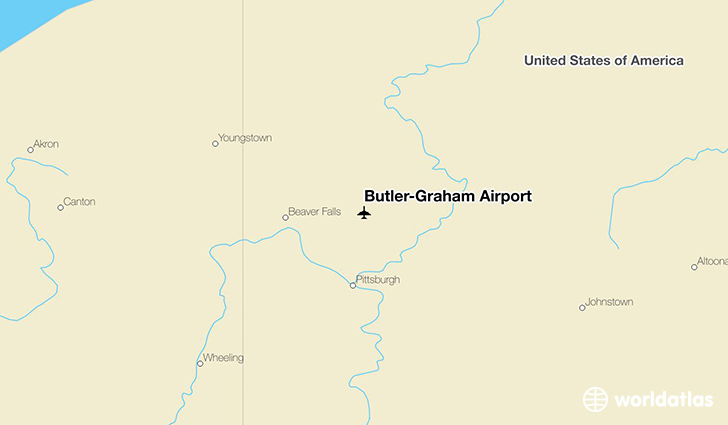 Butler-Graham Airport location on a map