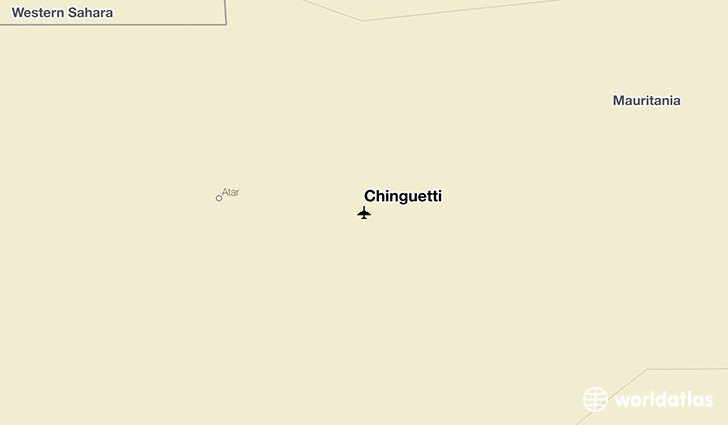 Chinguetti location on a map