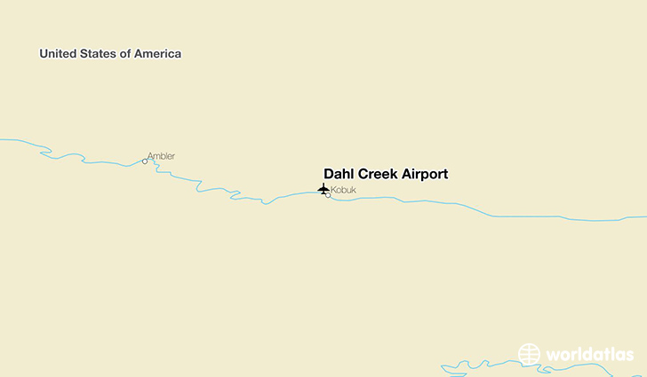 Dahl Creek Airport location on a map