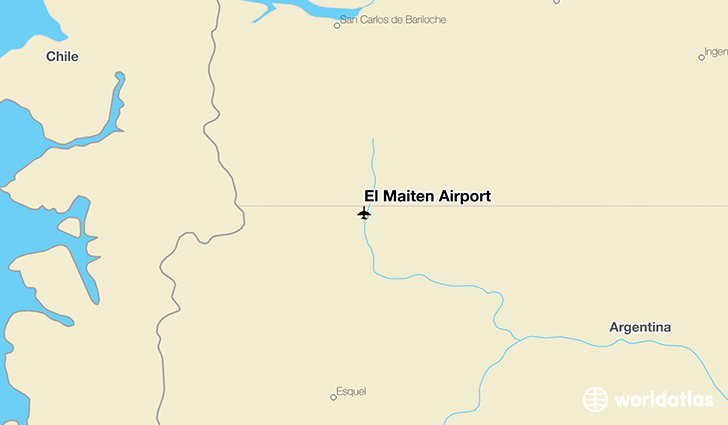 El Maiten Airport location on a map