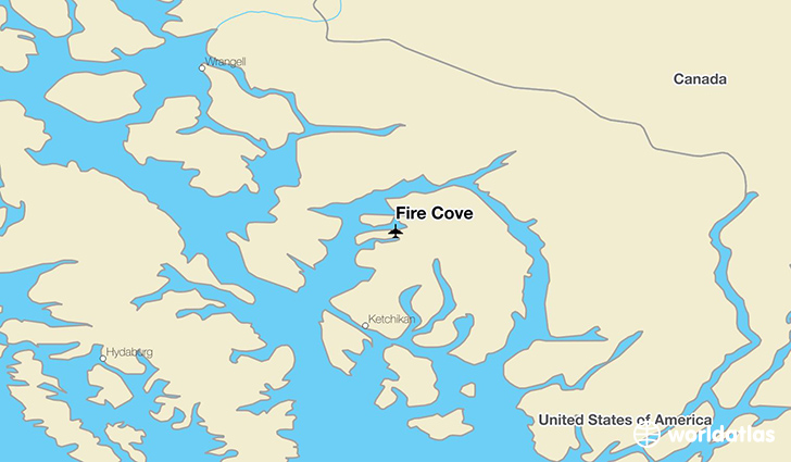 Fire Cove location on a map