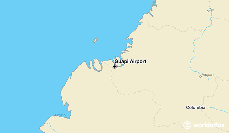 Guapi Airport location on a map