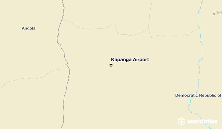 Kapanga Airport location on a map
