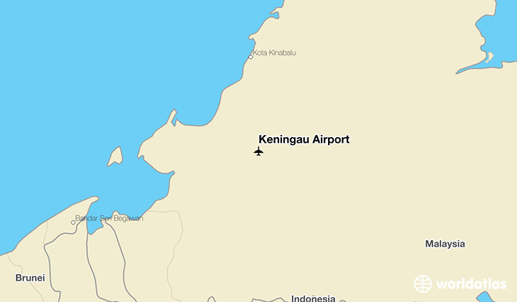 Keningau Airport location on a map