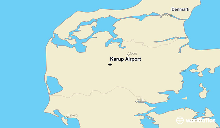 Karup Airport (KRP) - WorldAtlas